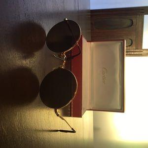 663c7cd79d Cartier Accessories - Vintage Round Cartier sunglasses